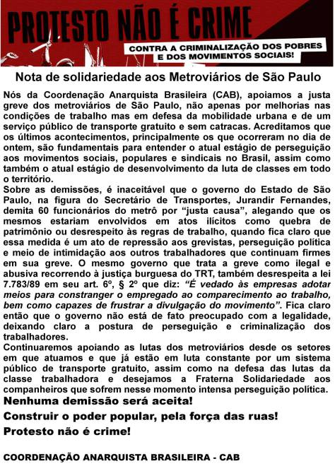 NOTA CAB METROVIÁRIOS