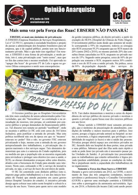 OPINIÃO ANARQUISTA 5.1