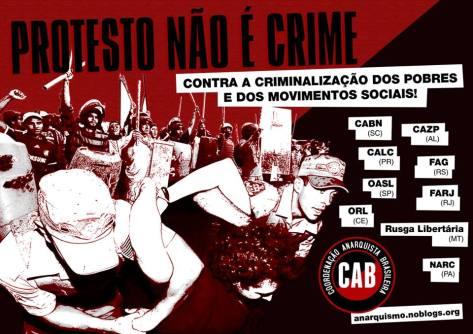 protesto não é crime
