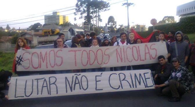 PROTESTO NÃO É CRIME – Pela absolvição de Nicolas Pacheco!