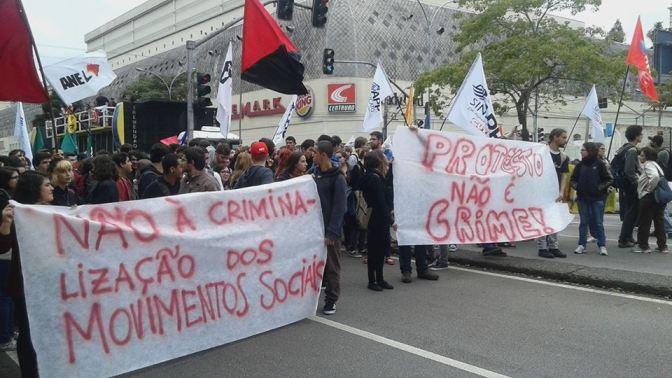 [CAB] Protesto não é Crime! Toda solidariedade ao Coletivo Quebrando Muros!