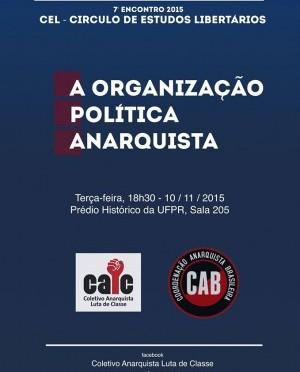 [CURITIBA] 7º ENCONTRO DO CÍRCULO DE ESTUDOS LIBERTÁRIOS (CEL) – NA PRÓXIMA TERÇA (10/11/2015)!