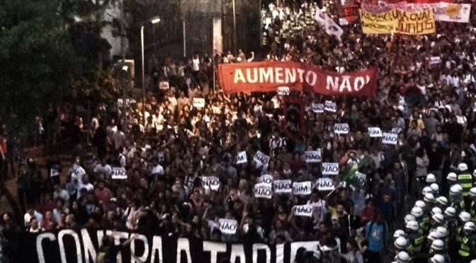 Em 2016, se a tarifa aumentar o Brasil vai parar e todo apoio às greves dos rodoviários!