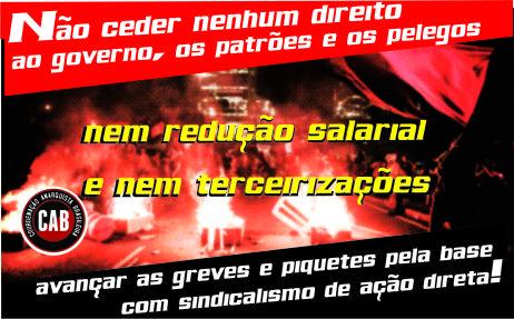 [CAB] Opinião Anarquista: Os ataques à educação e a necessidade de uma resposta nas ruas