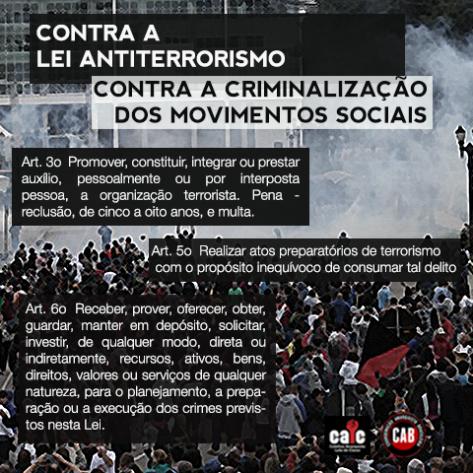 Flyer - Contra a lei antiterrorismo #2