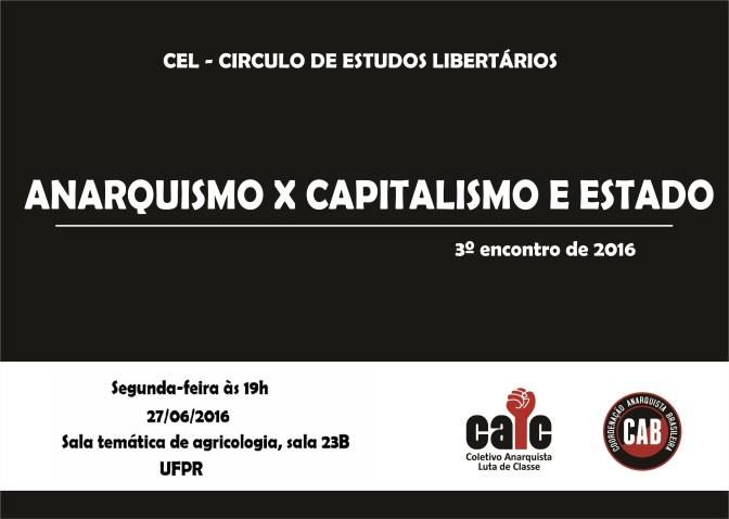 [MATINHOS] 3º ENCONTRO DO CÍRCULO DE ESTUDOS LIBERTÁRIOS (CEL) – NA PRÓXIMA SEGUNDA (27/06/2016)!