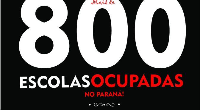 MAIS DE 800 OCUPAÇÕES NO PARANÁ! É HORA DE CONTINUAR RESISTINDO!