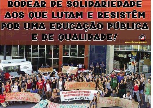 [CAB] Nota de apoio da Coordenação Anarquista Brasileira às/aos 35 da UNESP – Marília