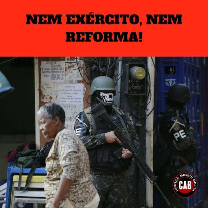 [CAB] Nota da CAB sobre a Intervenção Federal e Militar no Rio de Janeiro