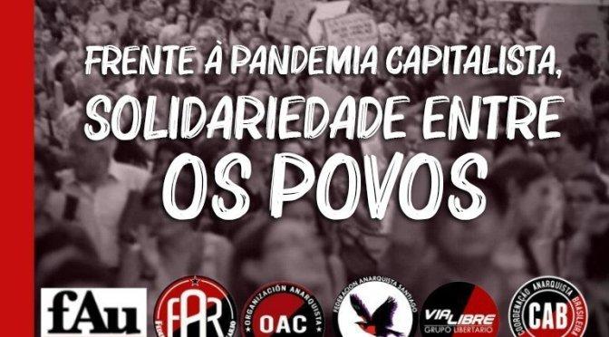 Diante da pandemia capitalista, solidariedade entre os povos